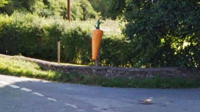 У королевской семьи украли 100-килограммовую деревянную морковку